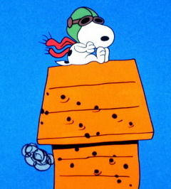 Snoopy fighting the Red Baron