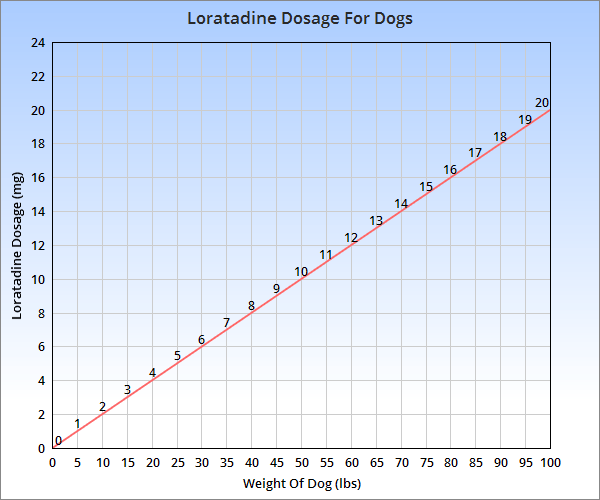Loratadine dosage for dogs